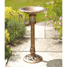 Bird Bath With Solar Light