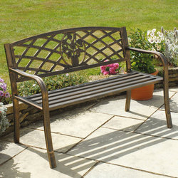 Image of: Garden Bench with Cast Iron Insert