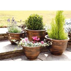 Image of: PK of 4 Plastic Planters