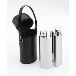 Image of: Set of 2 Drinks Flasks in Case Mirror